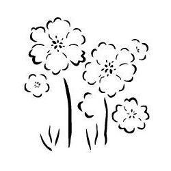 Szablon z tworzywa flora 1- Kwiaty