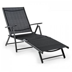 modena leżak 64x85x170cm aluminium/stalowy stelaż czarny marki Blumfeldt