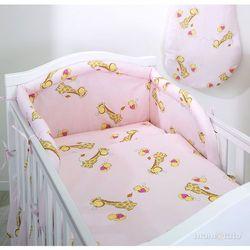 MAMO-TATO pościel 2-el Żyrafki różowe do łóżeczka 70x140cm z kategorii Komplety pościeli dla dzieci