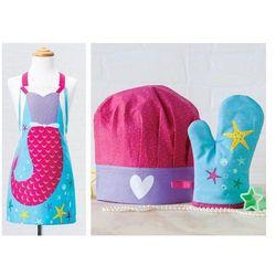 Fartuszek dla dziewczynki czapka rękawica syrenka stella  od producenta Ladelle