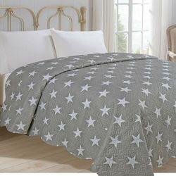 Jahu Narzuta na łóżko Stars szary, 220 x 240 cm
