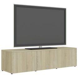 Vidaxl szafka pod tv, dąb sonoma, 120x34x30 cm, płyta wiórowa (8719883915739)