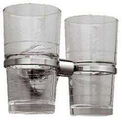Kubek łazienkowy podwójny szklany Merida