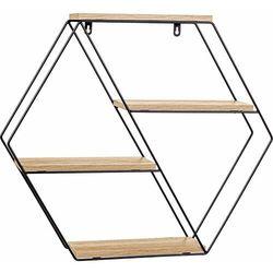 Stilista ® Półka hex wisząca naścienna rustykalna loftowa