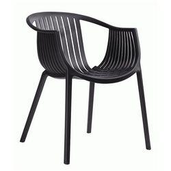 Krzesło ogrodowe Korente - czarne, PP041.BLACK