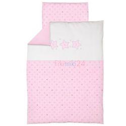 Ceba baby Ceba pościel bawełniana c-2 haft gwiazdki różowe