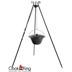 Kociołek węgierski żeliwny emaliowany z pokrywką 11l na trójnogu 180cm marki Cook king