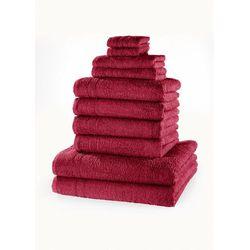 """Bonprix Komplet ręczników """"new uni"""" (10 części) jeżynowy"""