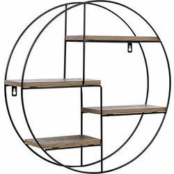 Stilista ® Metalowa półka regał okrągły wiszący ścienny loft