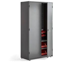 Szafa narzędziowa, z wyposażeniem, 2 półki, panel narzędziowy, 24 pojemniki, 1900x1020x500 mm, szary marki Aj produkty