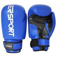 Rękawice bokserskie - niebiesko-czarane, marki Axer sport