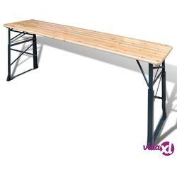 vidaXL Stół biesiadny składany 179x50x75/105 cm drewno sosnowe