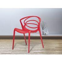 Krzesło czerwone - do jadalni - ogrodowe - do kuchni - kuchenne - BEND
