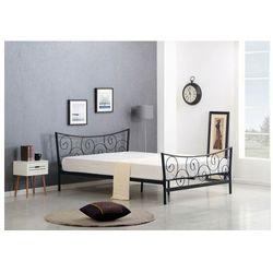Łóżko metalowe Enida - czarne