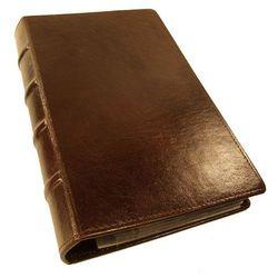 WIZYTOWNIK na 320 WIZYTÓWEK KW-46/320E RETRO wykonany z ekoskóry) - wyrób wzorowany jest na starych księga