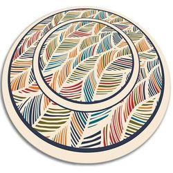 Modny winylowy dywan wewnętrzny Modny winylowy dywan wewnętrzny konturowe liście