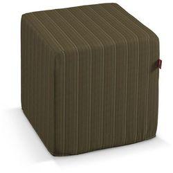 Dekoria Pufa kostka, zielona prążkowana tkanina, 40 × 40 × 40 cm, Wyprzedaż do -50%