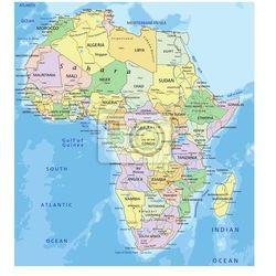 Naklejka Afryka - Bardzo szczegółowe edycji mapa polityczna. - produkt z kategorii- mapy