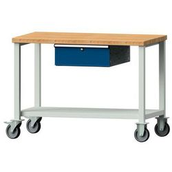 Anke werkbänke - anton kessel Kompaktowy stół warsztatowy, blat z litego drewna bukowego,szer. x głęb. 11