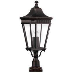 Zewnętrzna LAMPA stojąca COTSWOLD LANE FE/COTSLN3/L GB Elstead FEISS OPRAWA ogrodowa SŁUPEK latarnia IP44 outdoor brązowy, kup u jednego z partnerów