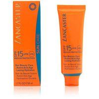 sun beauty krem do opalania do twarzy spf 15 (silky touch cream radiant tan) 50 ml marki Lancaster