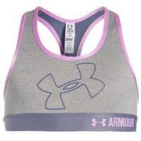 Under Armour Biustonosz sportowy true gray heather/aurora purple/verve violet (0190078446739)