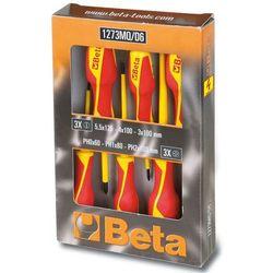 zestaw 6 wkrętaków 1273mq/d6, stal, 012730851 marki Beta tools