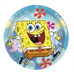 Talerzyki urodzinowe Spongebob Kanciastoporty - 18 cm - 8 szt.