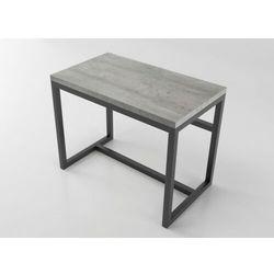Nowoczesne solidne biurko na metalowej konstrukcji como 100/58 beton marki Reqube
