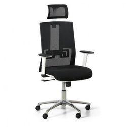 Krzesło biurowe essen white, czarne marki B2b partner