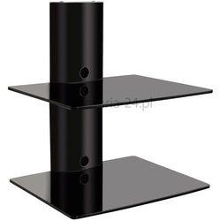 Półka ścienna szklana stolik pod TV TRV DVD tuner