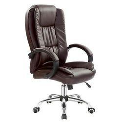 Fotel gabinetowy obrotowy relax - brązowy marki Halmar