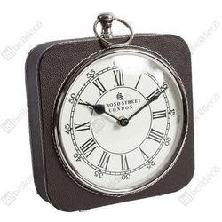 Zegar stojący GABINET C536918 Belldeco kwadratowy skóra brązowa, kolor Brązowy