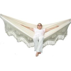 La siesta Brazilian deluxe hamak, ecru braz4