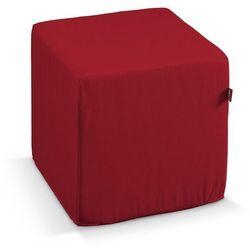 Dekoria  pufa kostka twarda, czerwony, 40x40x40 cm, etna