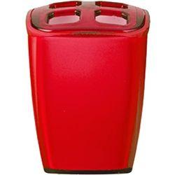 pojemnik na szczoteczki neon, czerwona, 7x6,5x10 cm marki Wenko
