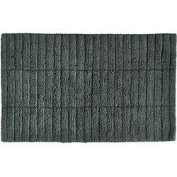 Dywanik łazienkowy tiles ciemnozielony marki Zone denmark