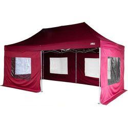 Bordowy ekspresowy pawilon ogrodowy namiot handlowy 3x6 m - bordowy marki Stilista ®