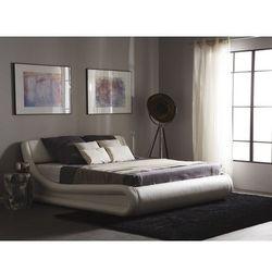 Łóżko białe skóra ekologiczna podnoszony pojemnik 160 x 200 cm cm AVIGNON (7105271426184)