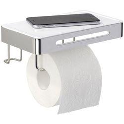 Uchwyt na papier toaletowy PREMIUM PLUS z półką - 2 w 1, WENKO