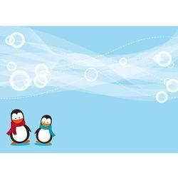 Wally - piękno dekoracji Tablica magnetyczna suchoscieralna dla dzieci pingwiny 133
