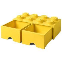 Room copenhagen Pojemnik lego 8 z szufladą żółty - lego pojemniki