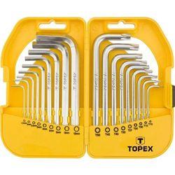 Topex Zestaw krótkich kluczy sześciokątnych i torx 35d952 (18 elementów)