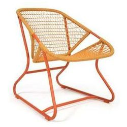 Designerski fotel ogrodowy Sixties Fermob pomarańczowy