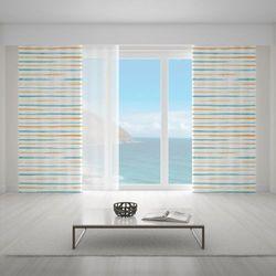 Zasłona okienna na wymiar - RAYAS ESTRECHAS ORANGE