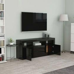 vidaXL Szafka TV, czarna, wysoki połysk, 120x30x50 cm, płyta wiórowa (8719883915234)