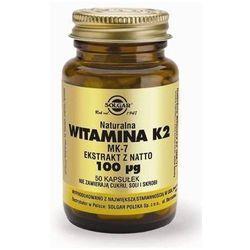 SOLGAR Witamina K2 naturalna 50 Kapsułek (lek Witaminyi minerały)