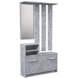 Garderoba wieszak lustro szafka na buty / Beton (5902838465684)