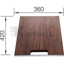Deska BLANCO z drewna orzechowego 420x360mm (223074) (4020684474504)