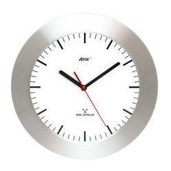 Zegar aluminiowy szeroka ramka radiowy dcf #2 marki Atrix